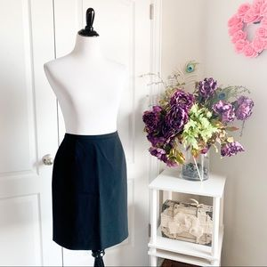 Ann Taylor Petites Lined Pencil Skirt In Black